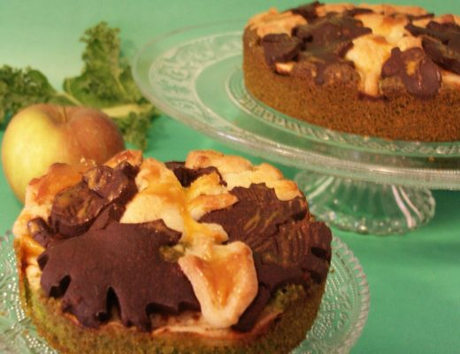 Grünkohl-Apfel-Kuchen