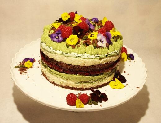 Himbeer-Pistazien-Torte
